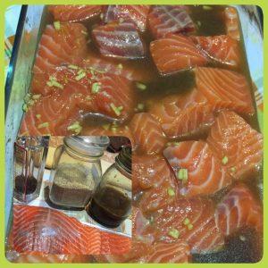 salmone marinato con aranzia e zenzero